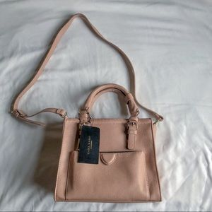 Zara Light Pink Mini Office City Cross Body Bag